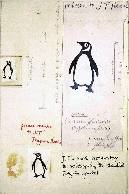 Jan Tschichold's prep work for the penguin brand
