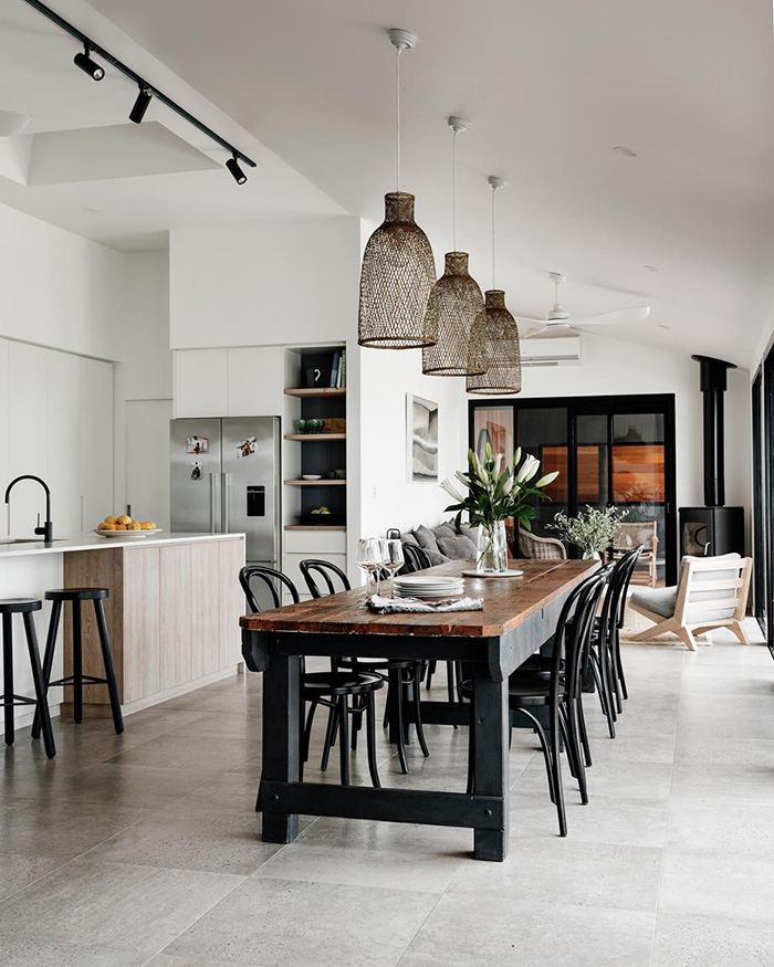 The New Nz Design Blog The Best Design From New Zealand And The World But Mainly Nz Long Dining Room Tables Country Dining Rooms Dining Room Style