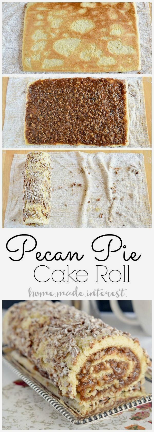 http://bestkitchenequipmentreviews.com/pressure-cooker/ Pecan pie filling rolled into a light sponge cake make this…