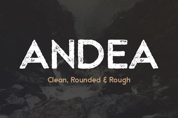 Andea - Geometric Sans Serif Font by Medialoot on @creativemarket