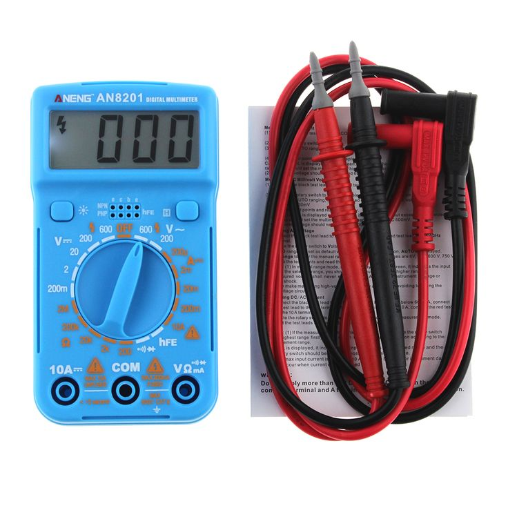 New Mini Digital Multimeter Backlight AC/DC Ammeter Voltmeter Ohm Electrical Tester Portable 1999 counts Meter P20