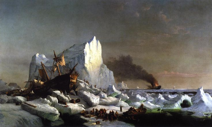 Sealers Crushed by Icebergs William Bradford - 1866