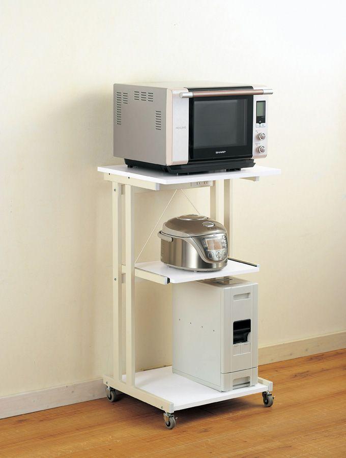 台所の 炊飯器の置く場所に困りませんか ラックがあります のサムネイル画像 台所 炊飯器 ラック