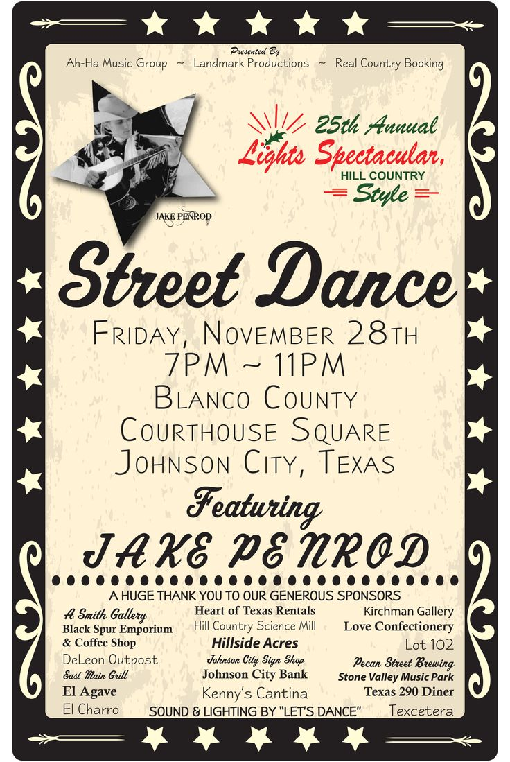 Catch a rising star at the Street Dance November 28th following the Fireworks!