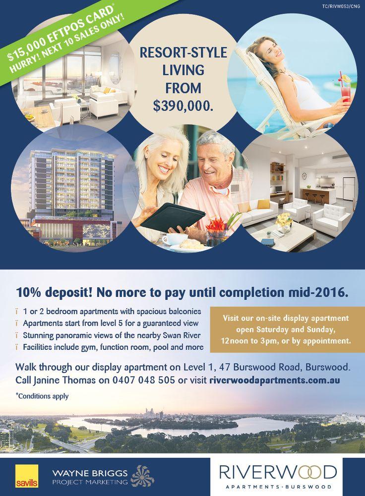 Riverwood Apartments Press Ad