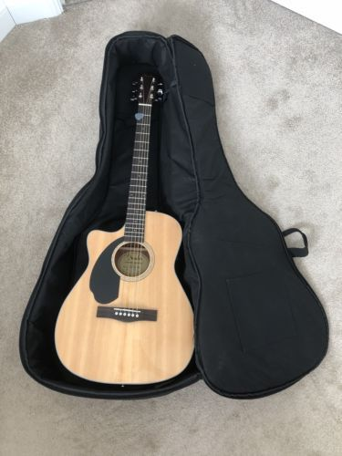 Fender Cc 60sce Left Handed Electric Acoustic Guitar Stagg Case