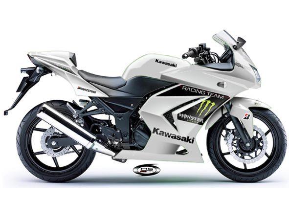 White Kawasaki Ninja 250r Motorcycle
