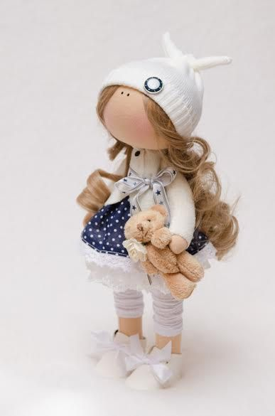 Evie Doll-Handmade Doll-Textile by BroderieLittleCorner on Etsy