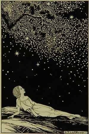 Dorothy Lathrop  1891 - 1980  Stars, 1930, ink on illustration board. Illustration for Sarah Teasdale, Stars Tonight, New York: Macmillan Company, 1930.