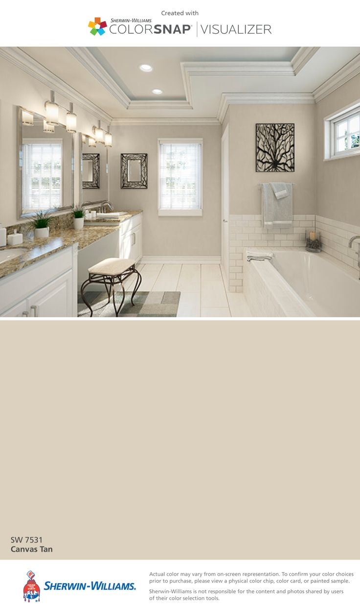 I Found This Color With Colorsnap Visualizer For Iphone By Sherwin Williams Canvas Bathroom