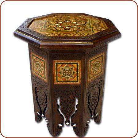Moroccan corner table, moroccan furniture