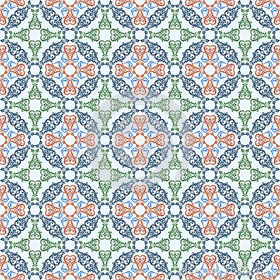Seamless pattern with ornamental oriental arabesque