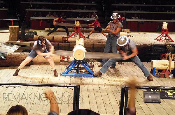lumberjack feud sawing