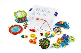 Music Box -  http://www.sensoryplus.co.uk/products/sensory-on-the-move/music-boxes/music-box/SE540 The Music Box houses a wealth of percussion instruments in a handy, lightweight and portable container.  Specially chosen for their appropriateness for children with special needs, this collection of musical instruments will encourage expression, development and interaction for all. 23 Rookwood Way, Haverhill, Suffolk, CB9 8PB.