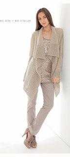 Мир хобби: Жакет с полочками из резинки (вязание спицами)