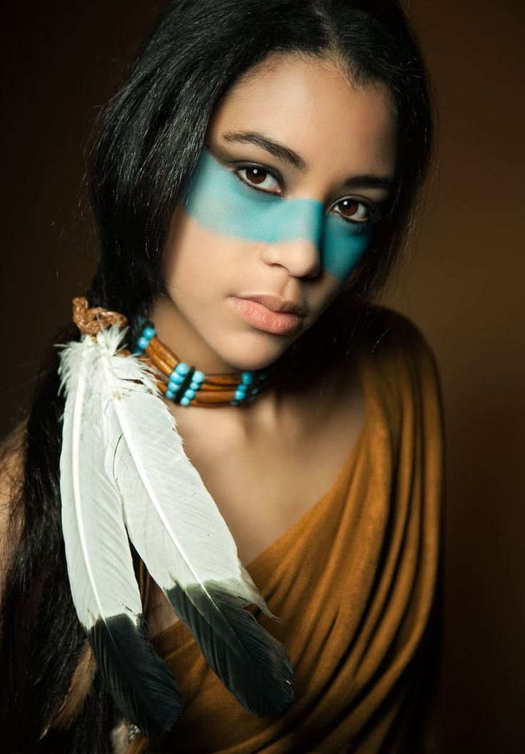 Indian Tribe Face Paint girls | Photoshop for beginners coloring