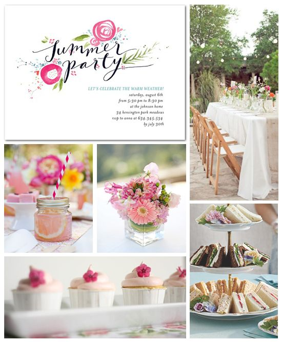 There's not enough Summer!! I want to recreate this beautiful party I saw on Tiny Prints - check out their Summer Garden Party Inspiration Board