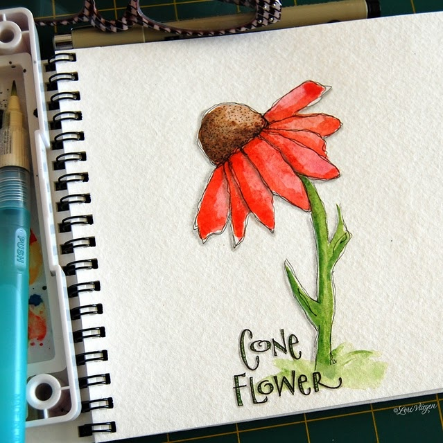 From Elvie Studio... I love her style!: Elvie Studios, Elvis Studios, Cards Ideas, Coneflow, Charms Gardens, Art Journals, Botanical Illustrations, Flower, Marcel Proust
