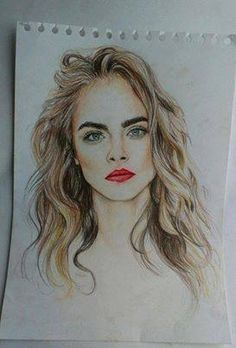 cara delevingne drawing - Google Search