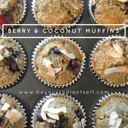 Berry & Coconut Muffins - healthy and refine sugar free