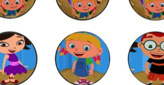 Cupcake Toppers  HERE         Little Einsteins Banner PDF File  HERE