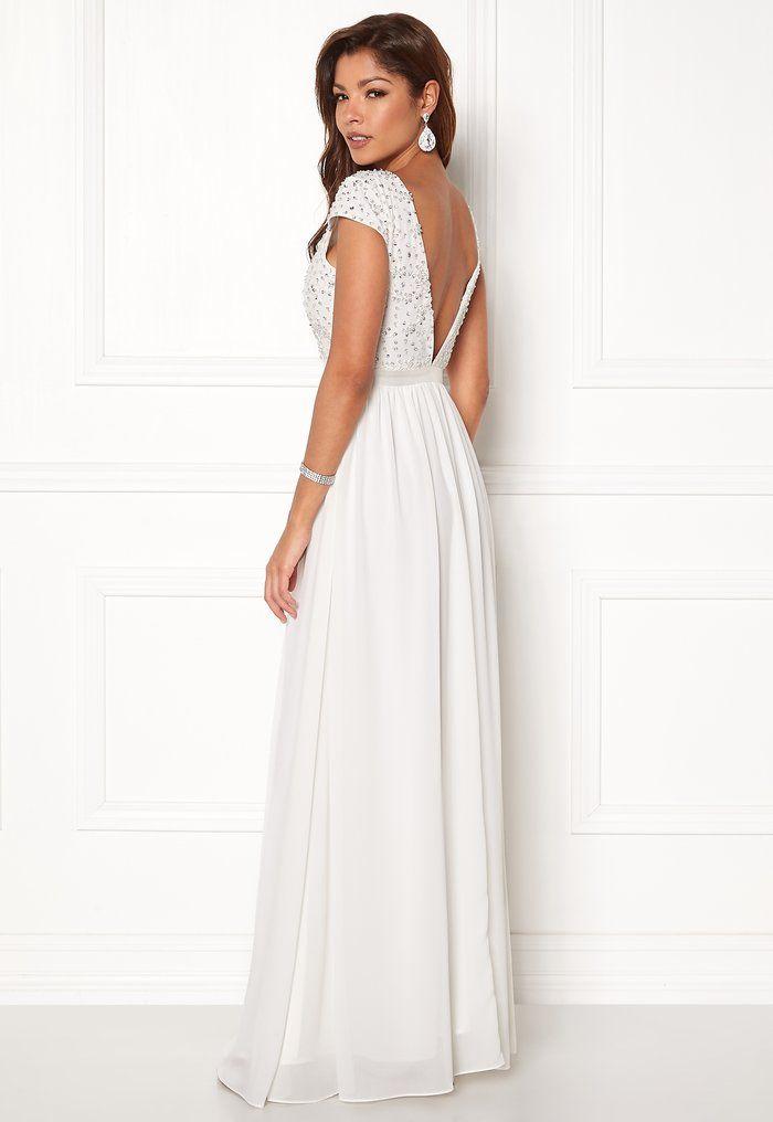 7f71e95848d7 Chiara Forthi Viviere Sparkling Gown Offwhite - Bubbleroom