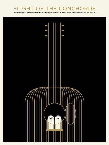 Flight Of The Conchords 2010 Concert Poster By Jason Munn