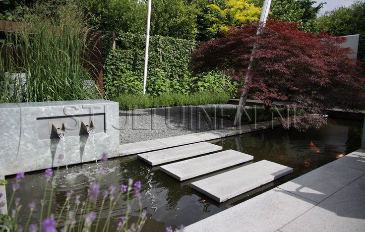 513 best water in de tuin images on pinterest landscaping water features and garden fountains - Bassin tuin ontwerp ...