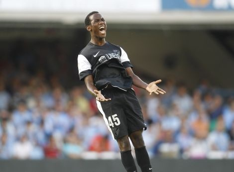 16 year old Fabrice Olinga just scored the game winning goal for Malaga CF in the top division of Spanish Soccer.