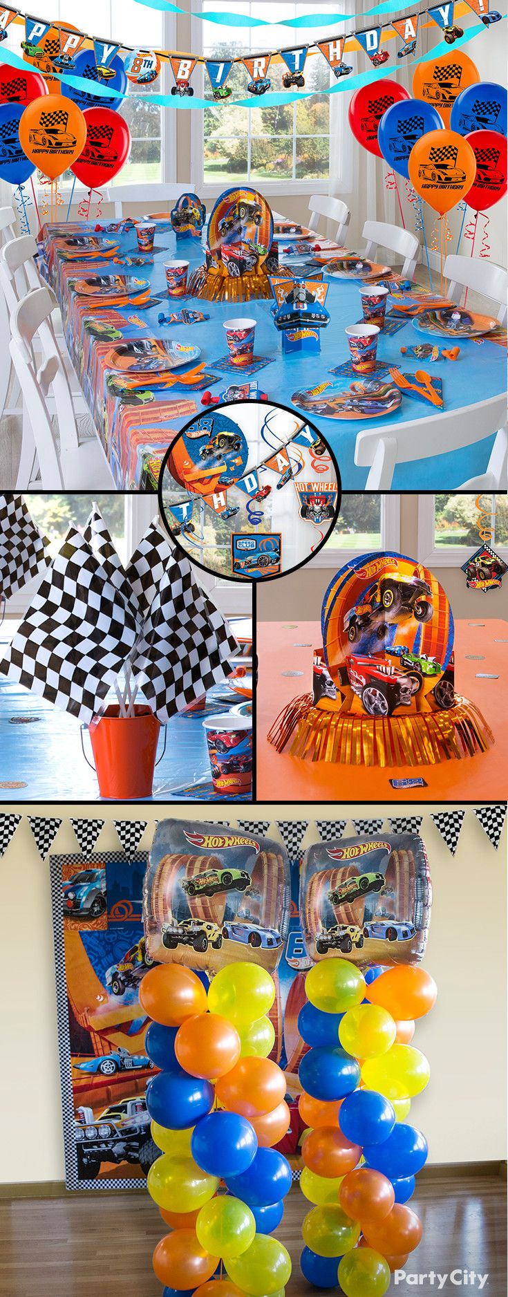 On your mark…get set…and GO! With fun Hot Wheels plates, checkered flags, cool favors, more balloons to choose from – Party City is the one-stop shop for a zoomin' party day.