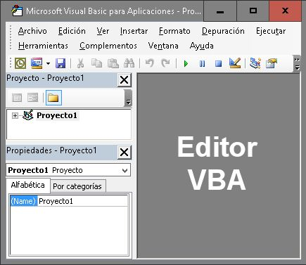 Editor VBA de Ms Office