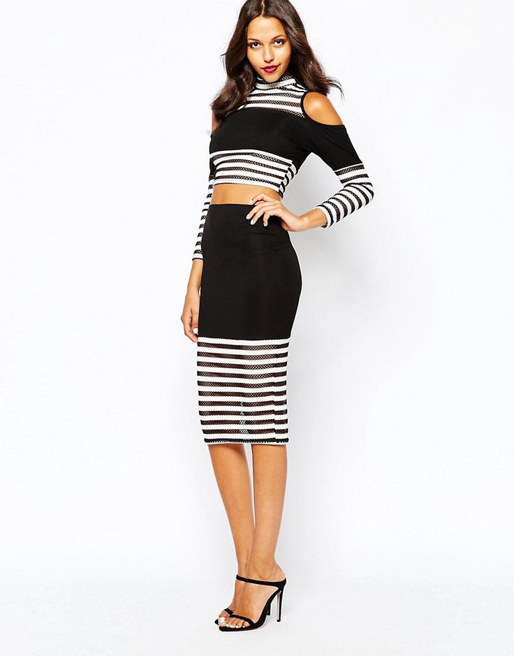 2a25de8168f6 Shop Boohoo Pencil Skirt With Stripe Hem at ASOS. Find this Pin and more on  Womansmyle - каталог стильной женской одежды ...
