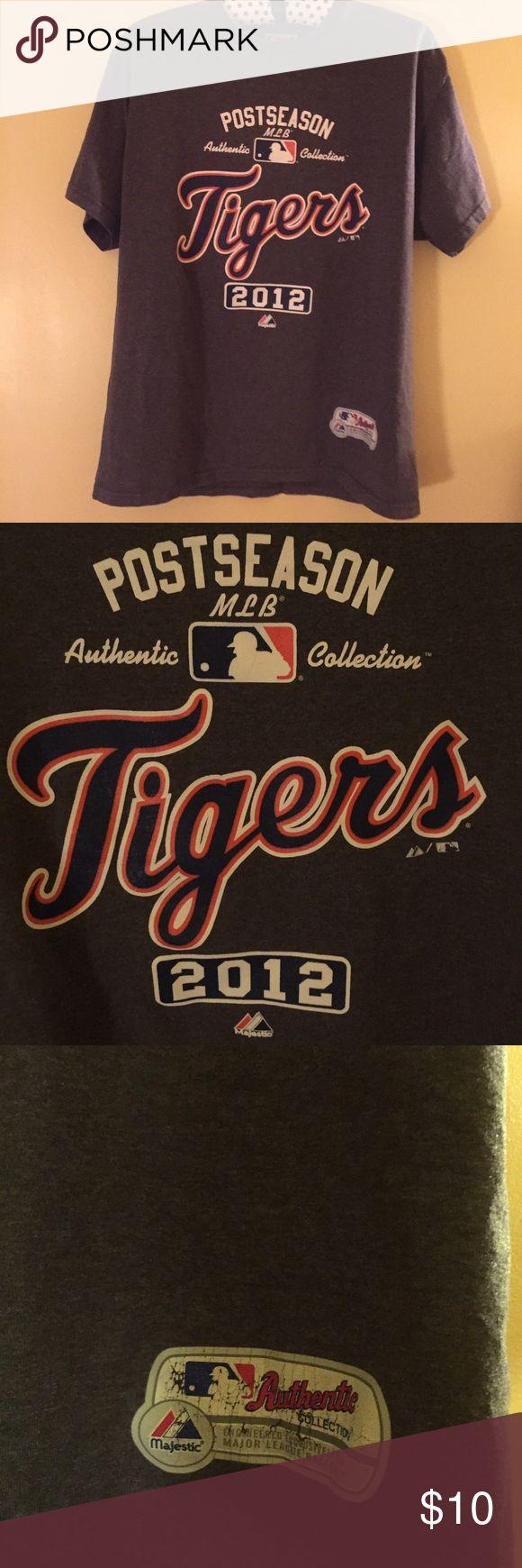 Detroit Tigers Tshirt Authentic Postseason 2012 Detroit Tigers Tshirt. As pictured. Major League Baseball Shirts Tees - Short Sleeve
