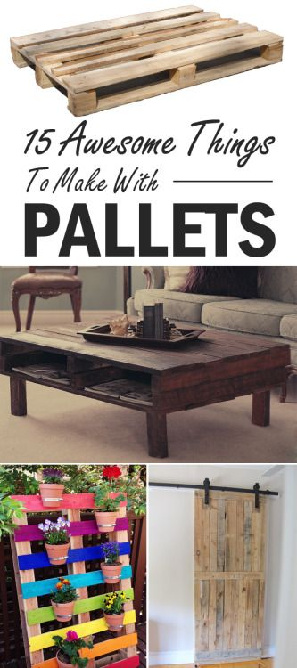 15 awesome things to make with pallets pallets pallet pallet building pallet projects. Black Bedroom Furniture Sets. Home Design Ideas