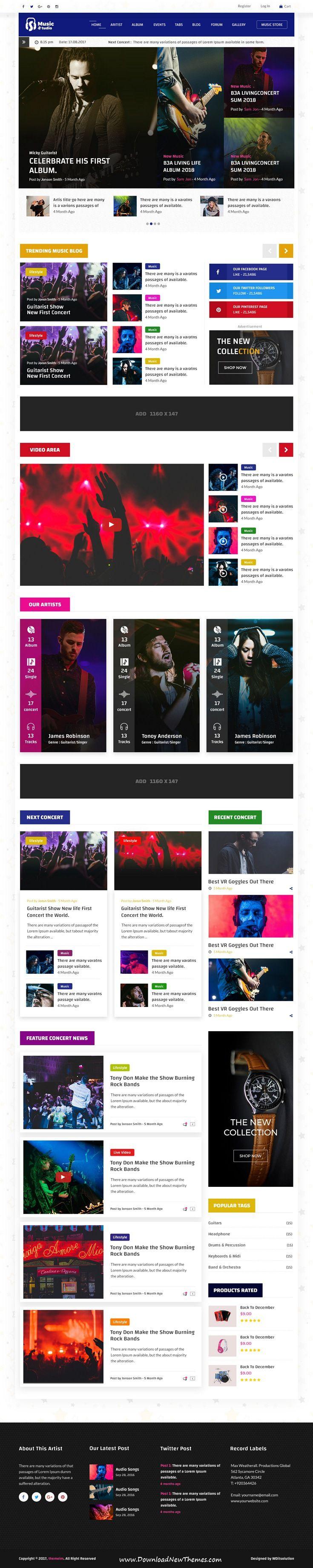 Ungewöhnlich Musiker Website Vorlagen Bilder - Beispiel Business ...