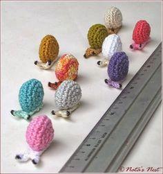 Kleine Schnecken häkeln -  Little Snails - Free crochet Pattern