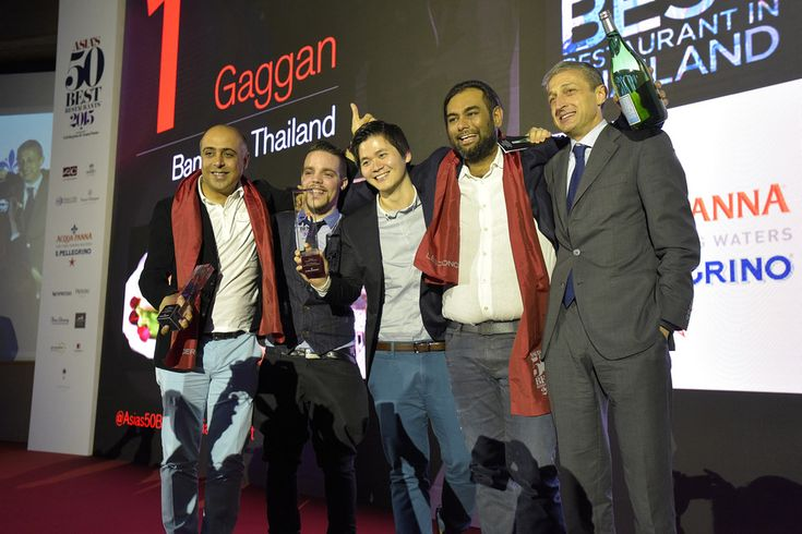 Chef Gaggan Anand, second from the right, claimed the top spot on the 2015 S....