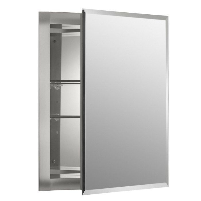 16 Quot X 20 Quot Recessed Frameless Medicine Cabinet With 2