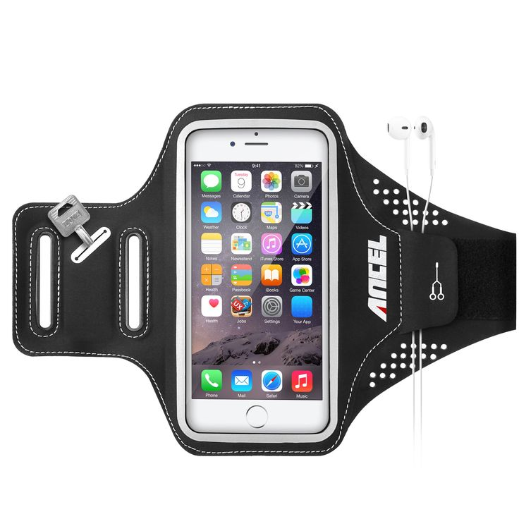Ancel Sweatproof Ultrathin Lightweight Workout Sports Running Armband (Updated Version) with Earbuds Slots Key Holder for iPhone 6 6S Plus (5.5 Inch), S6 S7 Edge, LG G5, Nexus 5X 6P, HTC 10 - Black. COMFORT FIT - We use state of the art lightweight high quality Lycra materials, an ultra thin, soft and light elastic fabric that stretches with the body, providing flexibility and breathability you need for your exercise. It stays put after you put it on and doesn't slide around. Perfect fit…