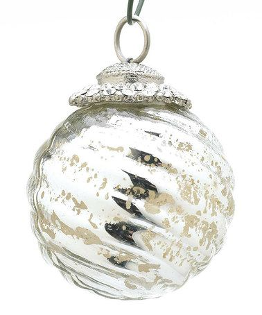 Take a look at this Silver Small Ball Ornament – Set of 6 by Accent Décor on #zulily today!