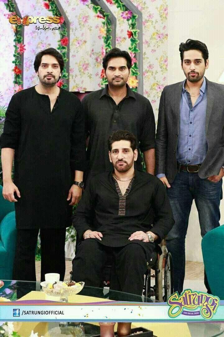 Humayun Saeed with brothers