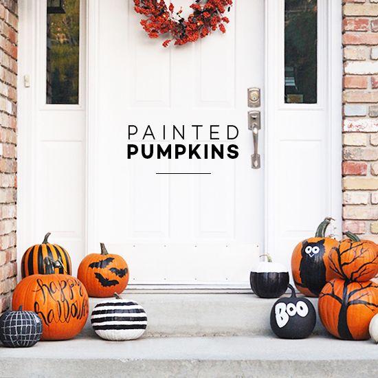 Easy Painted Pumpkin Ideas for Halloween | Little Peanut Magazine