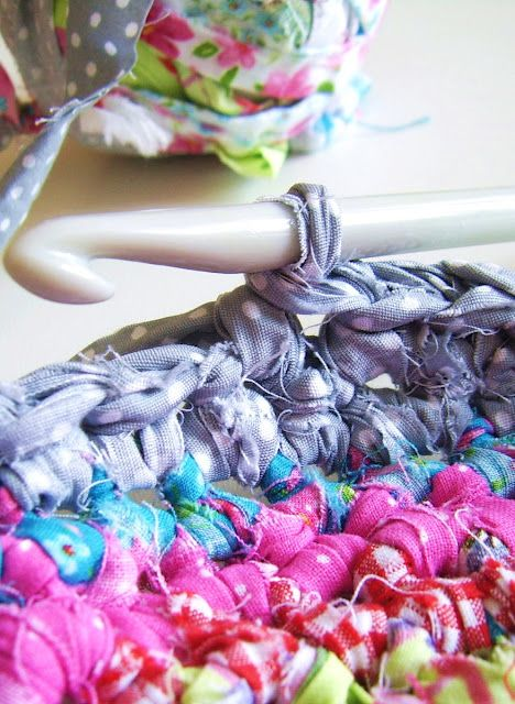 Crochet with fabric..