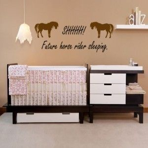 Nusery horse quote  34 X 12 inches  removable by aluckyhorseshoe, $22.00