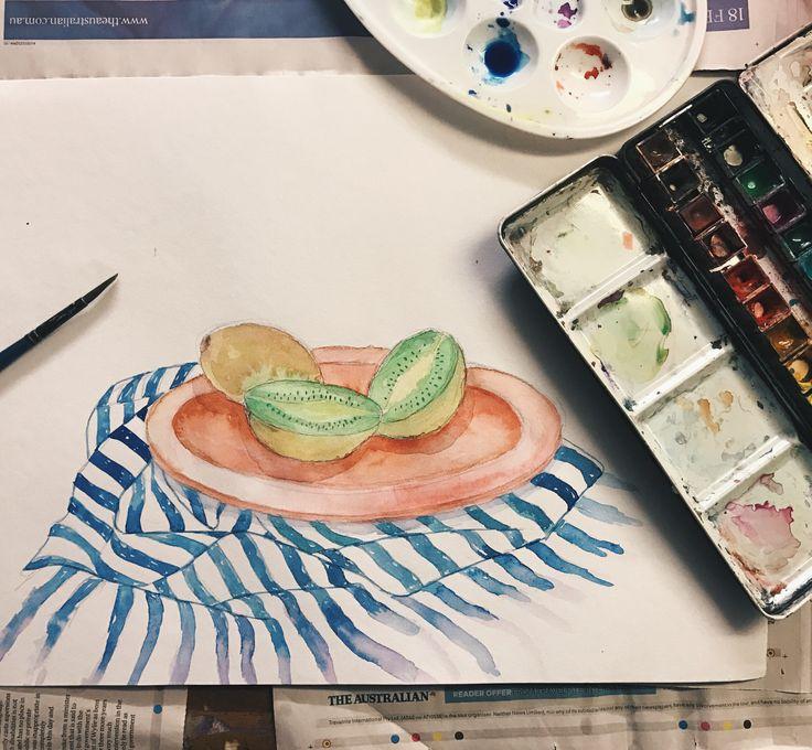water colour in progress