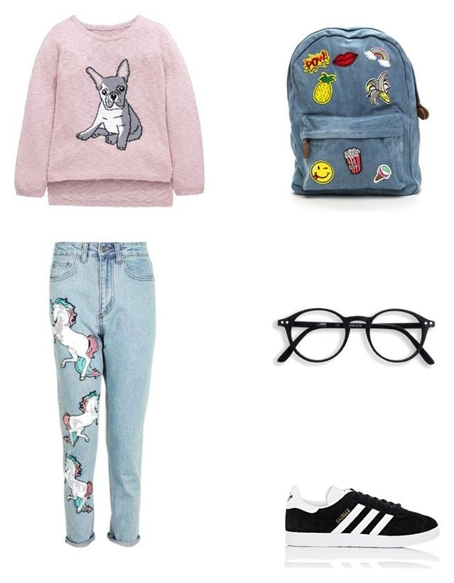 Bez tytułu #69 by wiki208 on Polyvore featuring moda, Topshop and adidas