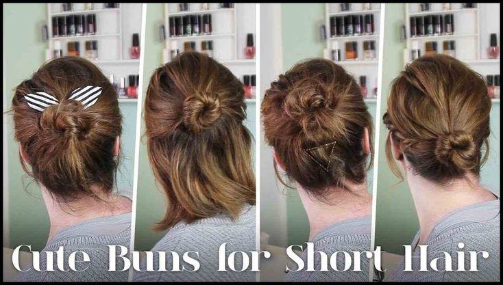 Frisuren für Kurze Haare // 5 Dutt Varianten für Kurze Haare – YouTube