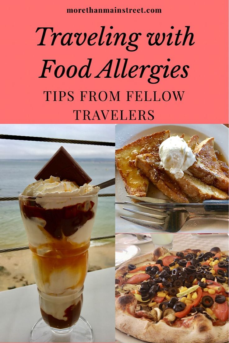 Fellow travelers share their tips and advice on traveling with food allergies and sensitivities. #foodallergy #traveltips