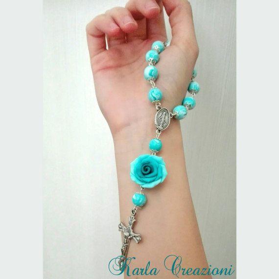 Guarda questo articolo nel mio negozio Etsy https://www.etsy.com/it/listing/513610369/rosario-decina-tiffany-mint