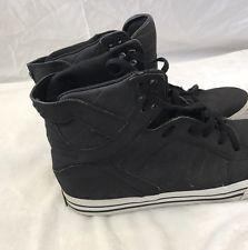 Supra Footwear CO Muska 001 High Top Sneaker Black & White Men's Fashion